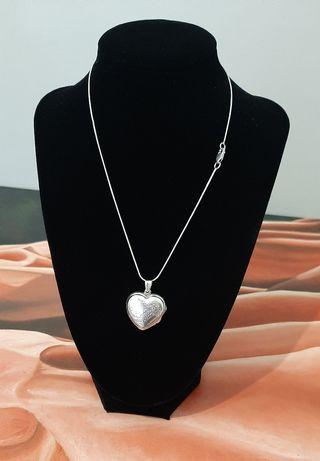 Collar + colgate de plata 925 ambos y corazón .