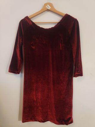 Vestido rojo terciopelo sin estrenar de Kling