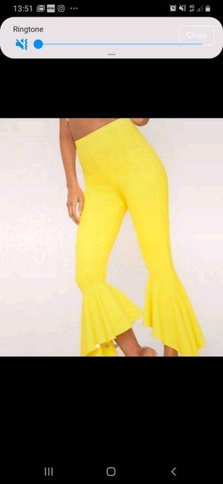 Yellow frill pants