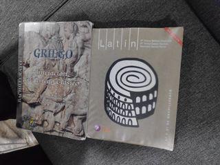 Libros Latín y Griego 1 y 2 Bachillerato
