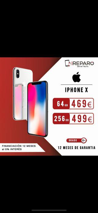 iPhone X - 64Gb - Plata (Seminuevo)