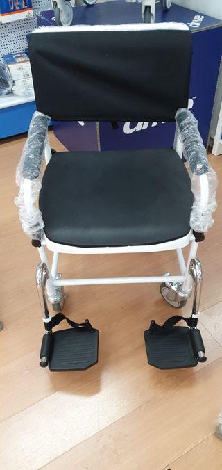 silla de traslado con inodoro para personas mayore