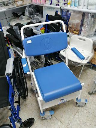 sillas de ducha e inodoro con ruedas NUEVAS