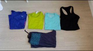 Lote de ropa deportiva S