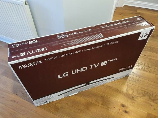 LG 43 inch 4K smart new boxed t.v.