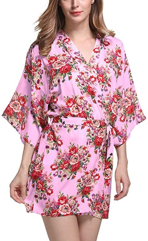 DELEY Mujeres Kimono Algodón Mercerizado Vintage F