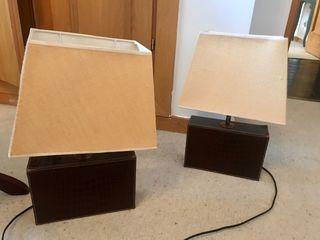 Conjunto de lámparas mesilla o mesa auxiliar