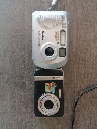 lote cámaras de fotos de marcas Kodak y benq