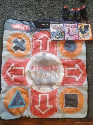 videojuegos PlayStation 2 fitness&dance con retos