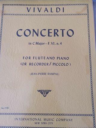 Vivaldi. Concierto en Do para flauta y piano