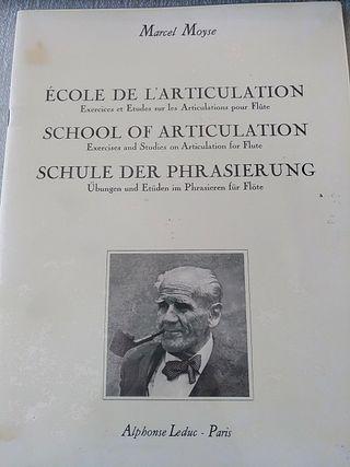 Marcel Moyse. Escuela de la articulación. Flauta