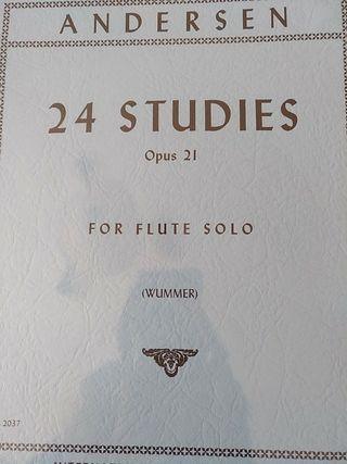 Andersen. 24 estudios Op. 21 para flauta