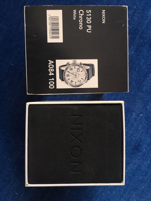 Reloj NIXON 5130 PU CHRONO White NUEVO