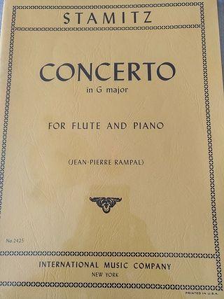 Stamitz. Concierto en Sol para flauta y piano
