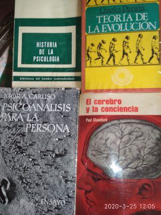 Libros de psicología.