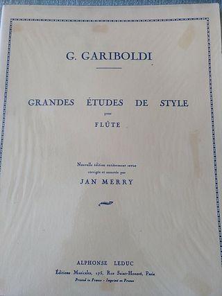Gariboldi. Grandes estudios de estilo para flauta