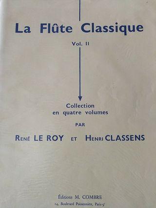 Le Roy y Classens. La flauta clásica 2. Fl-Piano