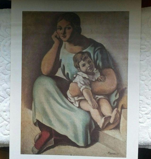 "Lámina reproducción/""Maternidad"""