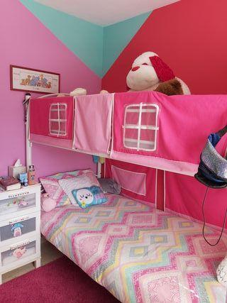 Habitación juvenil con literas completa