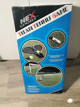 Juego de tenis (Red y raquetas)