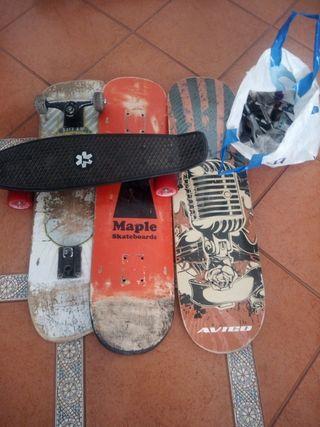 Skates, monopatines, tablas y piezas
