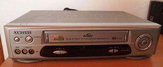 Reproductor grabador Samsung VHS SV-641X y cintas