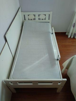 cama kritter para niño con barra