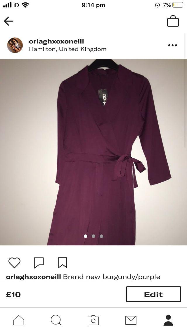 Brand new purple jumpsuit