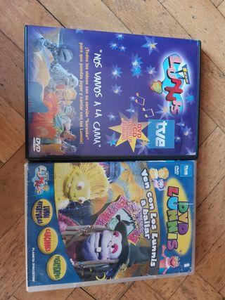 """Los Lunnis DVD+CD """"Nos vamos a la cama"""""""