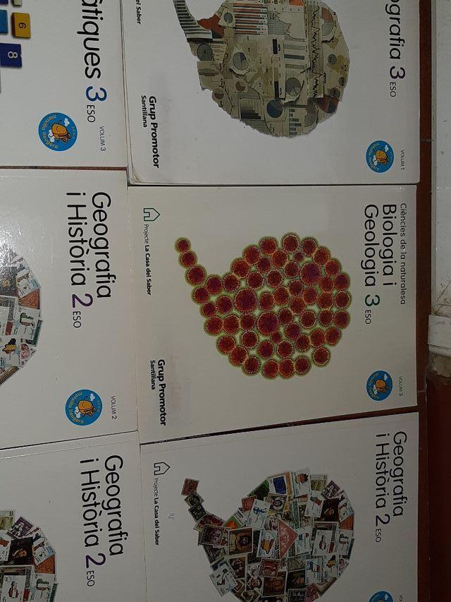 libros 2Eso y 3Eso.