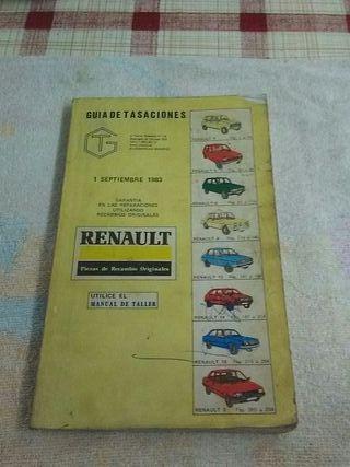 Guia Tasaciones Renault septiembre 1983