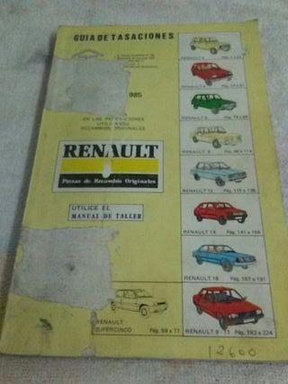 Guia Tasaciones Renault