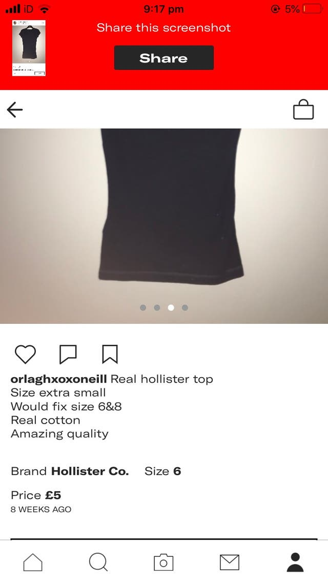 Original hollister top