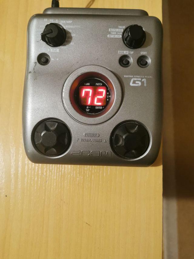 Pedal efecto guitarra zoom G1N