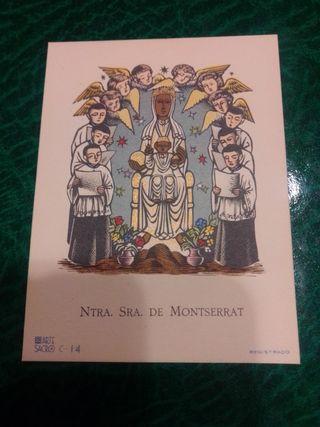 ANTIGUA ESTAMPA NTRA. SRA. DE MONTSERRAT
