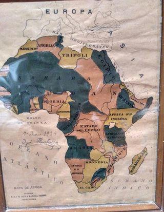 ANTIGUO MAPA DE ÁFRICA DEL EDITORIAL SEIX BARRAL
