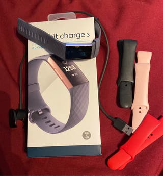 Fitbit charge 3 rosa/gris