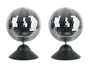 2 Bolas de espejo motorizadas fiestas DJ eventos