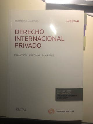 Manual derecho internacional privado