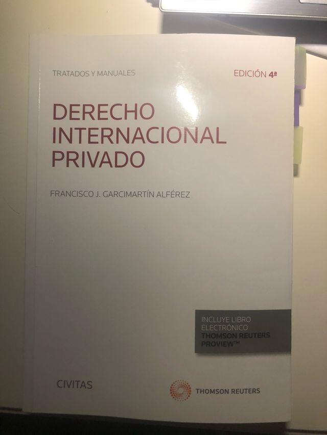 Manual derecho internacional privado