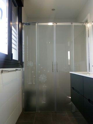 mampara ducha de cristal opaco NUEVA.