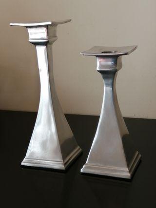 candelabros de metal
