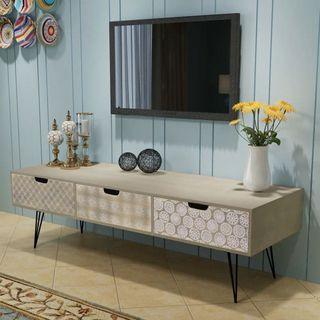 Mueble para La Televisión con 3 Cajones 120X40X36