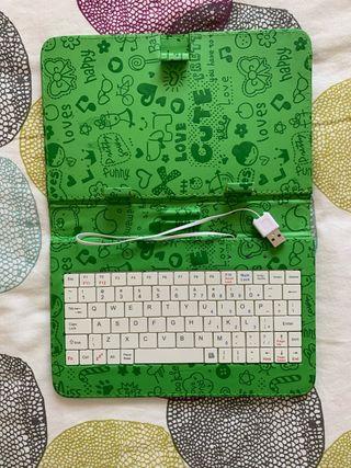 Funda con teclado para tablet (Android)