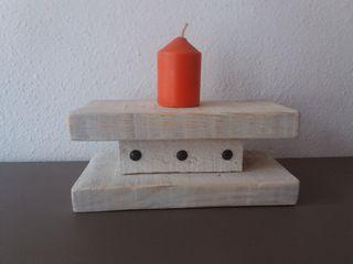porta velas artesanal
