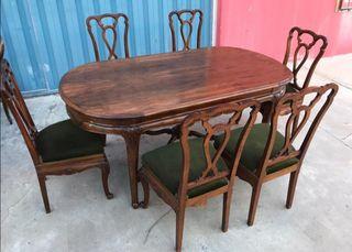 mesa salón con sillas porte gratis