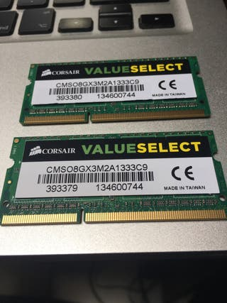8GB Memoria Ram DDR3 So-dimm 1333MHz Mac (2x4Gb)