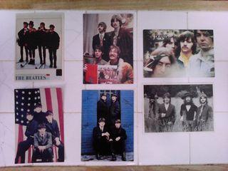 Postales y foto de The Beatles.