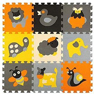 qqpp Puzzles de Suelo,Alfombra Puzzle de 9 Piezas