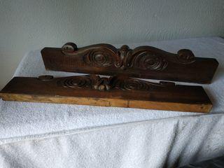 Copetes madera tallada